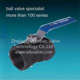 Vávula de bola del hilo de rosca femenino del bastidor de inversión del acero de carbón de Wcb 1PC