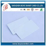 Tarjeta blanca en blanco imprimible del PVC de RFID Cr80 con el recubrimiento