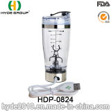 La bouteille en plastique rechargeable de dispositif trembleur de vortex d'USB 450ml, BPA libèrent la bouteille électrique en plastique de protéine (HDP-0824)