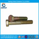 Parafusos Hex chapeados zinco da cor do fornecedor DIN931 de China