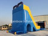 Diapositiva gigante del apogeo del verano inflable con la piscina para el parque de atracciones