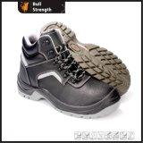 Schwarze lederne Sicherheits-Schuhe Sn1207