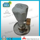 Soupape de cornière en laiton plaquée par chrome avec le filtre de solides solubles (YD-D5029)