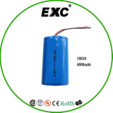 2016 Sales quente 3.7V Lithium Rechargeable Battery 18650 4000mAh