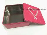 Netter quadratischer Geschenk-Zinn-Kasten für Süßigkeit-/Schokoladen-/Plätzchen-/Weihnachtsfeiertag