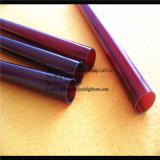 Fournisseur de tube de verre de quartz de couleur rouge