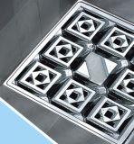 Dreno de assoalho concreto decorativo do quadrado do banheiro do aço inoxidável (D26-02)