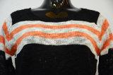 Maglione a strisce del pullover di caduta di modo delle donne
