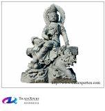 Естественный Bodhisattva Guanyin камня гранита высекая скульптуру статуи