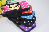 Caixas roxas do telefone do silicone do rato de Minnie do PONTO de polca para o iPhone 6 6splus 7 7plus (XSD-001)