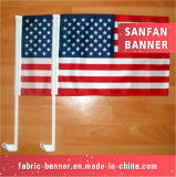Poliéster impermeável toda a bandeira do carro do cabo flexível de Frontlit dos países com Pólo
