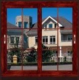Rote Kirschschiebendes Aluminiumfenster/Schlafzimmer-Fenster