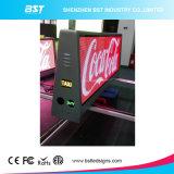 Afficheur LED polychrome de dessus du taxi 3G/4G/WiFi d'intense luminosité pour annoncer l'étalage