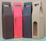 Maneta cortada con tintas Boxwith acanalada del embalaje del regalo del vino del papel