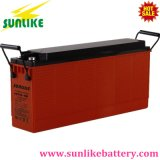 bateria 12V200ah Telecom terminal dianteira solar recarregável com vida 12years