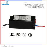 Approbation de la CE 20W 700mA Constant Triac Current / Elv Dimmable LED Pilote