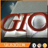 Suportando o sinal Backlit diodo emissor de luz iluminado da letra de canaleta de DIY