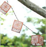 La lumière solaire de chaîne de caractères de lanterne en métal de Napa