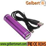 De populaire Batterij van de Telefoon van het Ontwerp 2600mAh Mobiele de Mini Draagbare Bank van de Macht