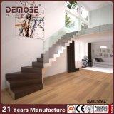 Sin marco Barandilla de madera de acero de la escalera (DMS-3009)