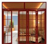 Kirschhölzerne Farben-Sicherheitsglas-Aluminiumfalz-Tür