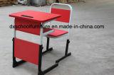 Vector del estudiante de los muebles de escuela y conjunto rosados ajustables de la silla