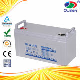 Oulite 12V100ah Solar Deep Cycle Lead Acid Battery with TUV CE SGS MSDS Certificates