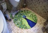 Stuoia rotonda del pavimento, stuoia decorativa della famiglia della stuoia di acquazzone
