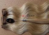 A máquina cheia loura de venda superior do cabelo humano fêz a tecelagem do cabelo