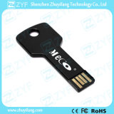 Flash Drive negro de aluminio del metal de 8 GB USB con logotipo personalizado (ZYF1724)