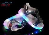 De hoge LEIDENE van de Jonge geitjes van de Manier Zilveren en Gouden Schoenen van Sandals met Lichte Zool