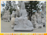 Standbeeld van Guanyin Bodhisattva van de steen het Hand Gesneden