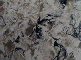 Il marmo popolare di buona qualità venato le bramme di pietra artificiali del quarzo (GSYC004)