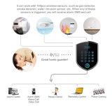 Casa GSM alarma antirrobo interior de la sirena de alarma y sonido de números de teléfono de alarma (3G o 2G); Números de alarma 5 PSTN; 3 números de SMS;
