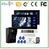 7 pollici hanno collegato la video tastiera di identificazione di sostegni del telefono del portello ed il telecomando elettricamente