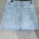 Vestido de Jean da sarja de Nimes das mulheres da saia da forma das senhoras do OEM da fábrica