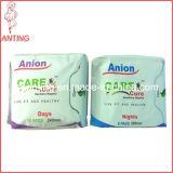 Serviette de Sanitayr d'anion, Madame Products, rondelles sanitaires de santé de coton respirable