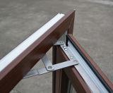 Двойное бортовое цветастое окно Casement профиля UPVC с специальным краем Kz286
