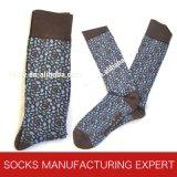 Qualitäts-Kamm-Baumwollluxus-Socke der Männer