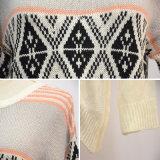 女性の方法アイスランドArgyleの長い袖のセーター