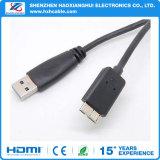 Cabo preto do USB Estar-Micro ao cabo do USB 3.0 do Bm