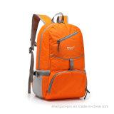 Sac pliable de polyester orange avec l'impression de logo pour la promotion