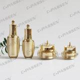 30g 50gの贅沢な金の王冠の化粧品の包装のためのアクリルのローションのびん(PPC-NEW-001)