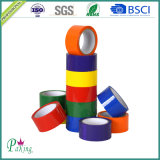 Cinta adhesiva verde del color BOPP para el embalaje del cartón