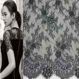 Tessuto del merletto di stirata di modo 90%Nylon10%Spandex per i vestiti da cerimonia nuziale