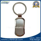 Anello chiave personalizzato del metallo in lega di zinco dello spazio in bianco di alta qualità