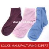100%の女性(UBS-002)のための絹の無地のソックス