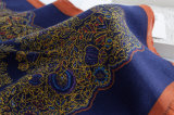 Lenço de seda viscoso impresso Paisley da forma das mulheres (YKY1129)