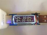 QC 2.0 do USB 5V 9V 12V 20V voltímetro atual do texto do medidor do doutor potência do carregador do USB do verificador da capacidade do carregador da tensão de 3.0 OLED