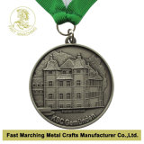 Medaglia con Antique Silver Plating, Medallion con 3D Effect